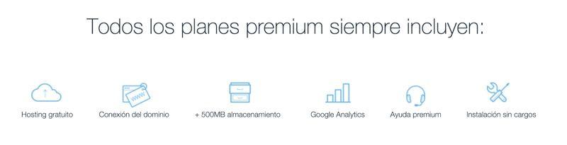 Precios planes premium Wix