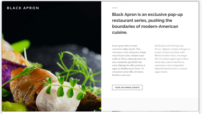 web de restaurante