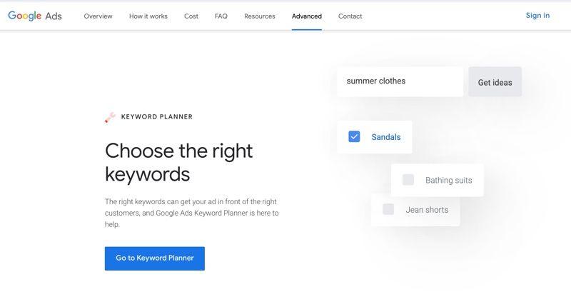 Google Keyword Planer
